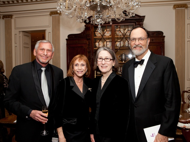 Michael and Susan Bloome, from left, with Kath and George Howe at the Rienzi Society dinner January 2014