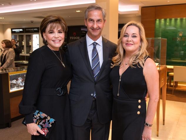 Hallie Vanderhider, James Bruno, Theresa Bruno at IW Marks Jewelers