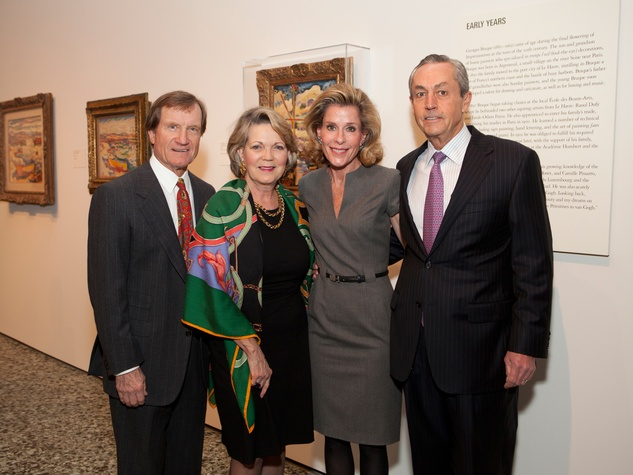 7 David and Pam Ott, from left, and Leila and Walter Mischer at the MFAH Georges Braque opening reception February 2014