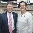 9 Texans owner's suite home opening game September 2013 Ed Emmett, Gwen Emmett