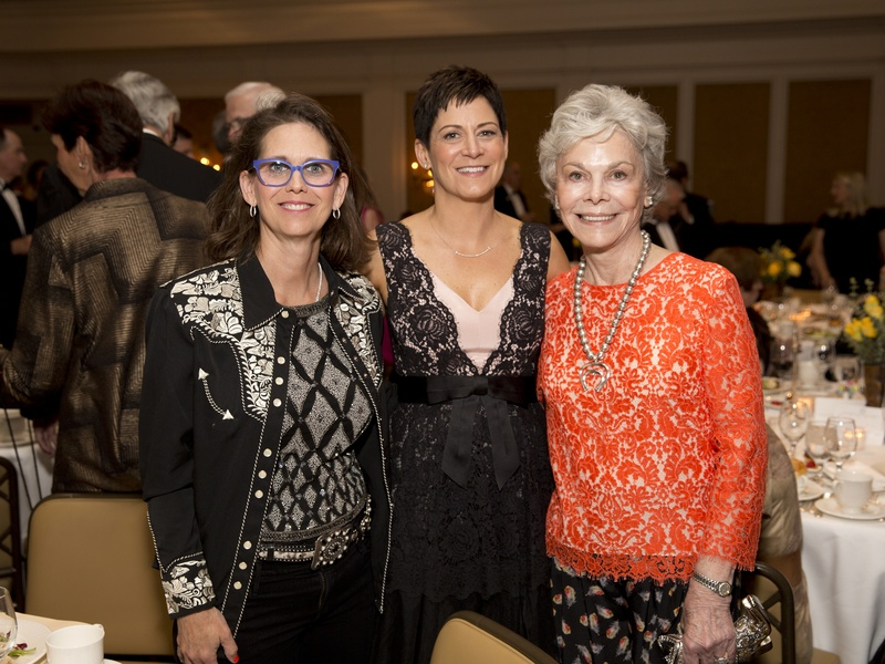 Houston, Blue Bird Circle Gala with Lyle Lovett, April 2017, Elizabeth DeLuca, Colleen O'Brien, Janice McNair