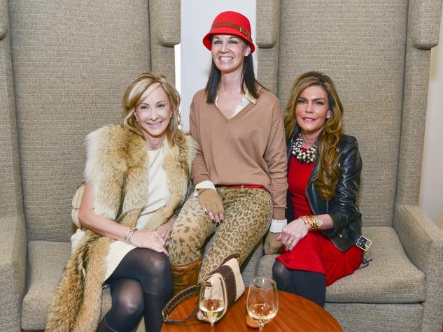 9 Rebecca Allen, from left, Beth Muecke and Debra Grierson at the Petra Nemcova luncheon December 2013
