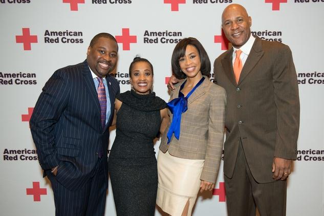 News, Shelby, Red Cross Luncheon, Feb. 2015, Ronald Jackson, Regina Jackson, Gina Gaston Elie, Mario Elie