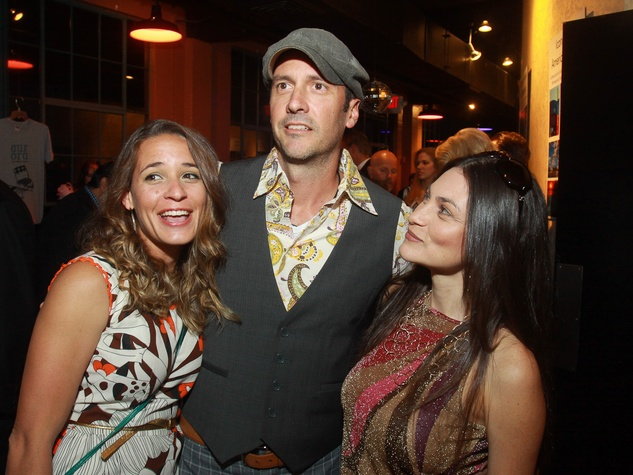 Stages Repertory Theatre gala, April 2013, Lauren Crone, Jeff Crone, from left, with Brandy Deutsch