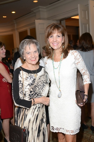 Cecille Burr, left, and Dana Strake at the Amazing Place Luncheon October 2014