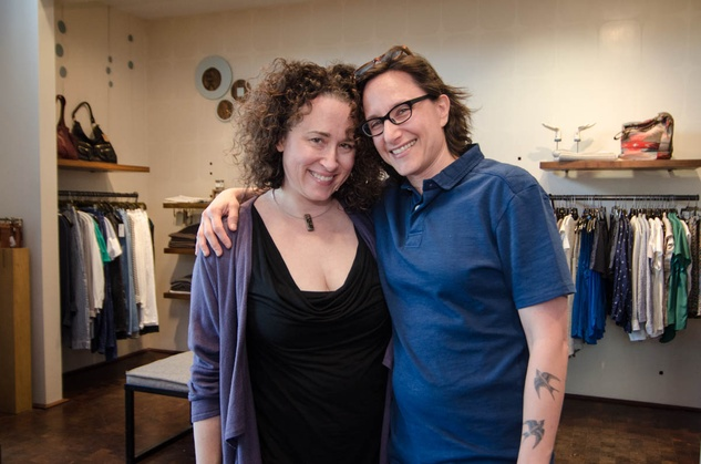 Nancy Aebersold and Dana Blumrosen at By George
