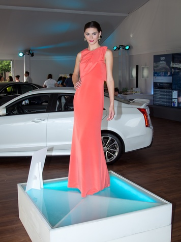 Model at CultureMap Cool Down 2015 at Cadillac Club