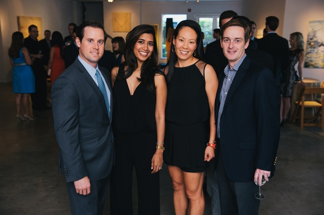 0030 6 Chris and Divya Brown, from left, with Ting and John Bresnahan at the Houston Symphony's Young Associates Council season kick-off August 2014