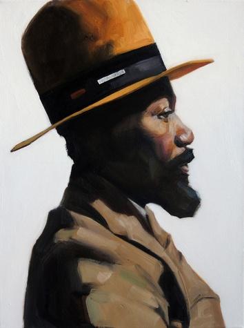 Portrait by Dallas artist Riley Holloway