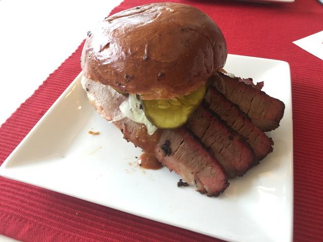 Killen's barbecue brisket sandwich NRG Stadium