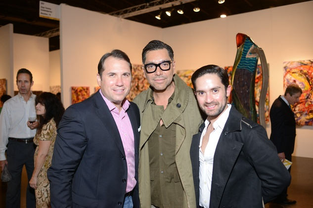 4 Dean Giuffer, from left, Ceron and Tarek El-Bjeirmi at the HFAF 2014 Opening Night September 2014