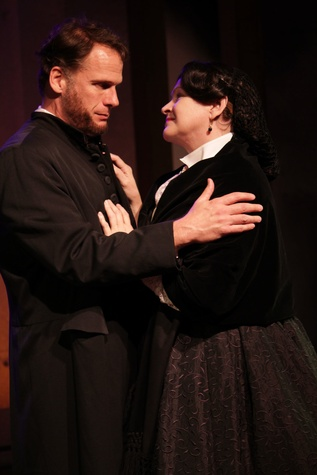 Abraham Lincoln (Joe Kirkendall) and Mary Todd Lincoln (Susan Shofner) in Main Street Theater's production of A Civil War Christmas November 2013