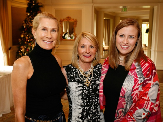 23 Mary Davis, from left, Lisa Mears and Katie Mears at the Houston Botanical Gardens luncheon December 2013
