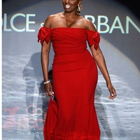 Nene Leakes walks the runway wearing Dolce and Gabbana at Go Red For Women February 2014