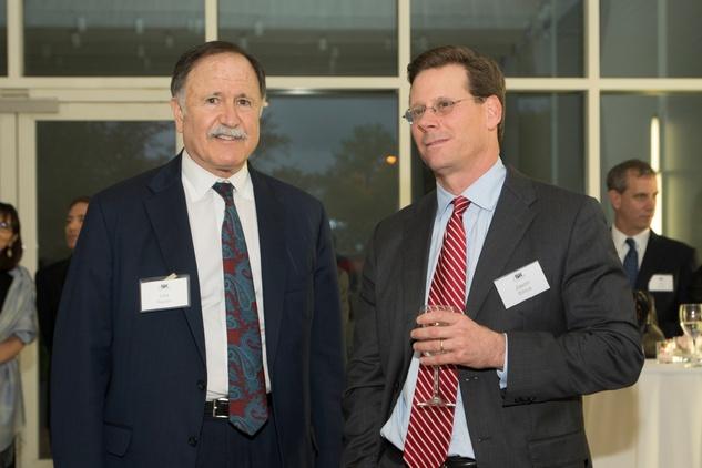 Lee Kaplan, left, and Jason Billeck at the ADL Jurisprudence Award kick-off April 2015