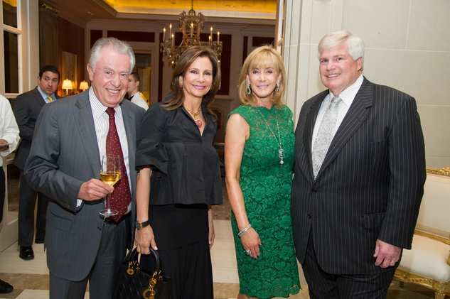 2 Ricardo and Martine Weitz, from left, and Sheridan and John Eddie Williams at the Zadok jewelry dinner October 2014