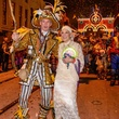 9598 Sharron Kittler posing with a member of The Philadelphia Mummers at the Tremont Ball March 2014
