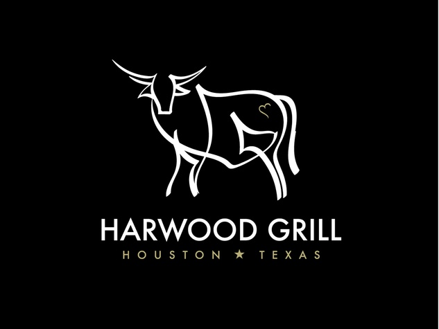 Harwood Grill logo black background March 2015