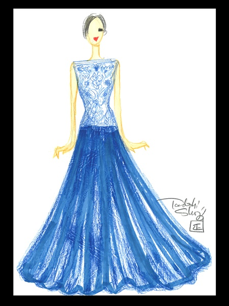 Clifford, Fashion Week, September 2012, sketches, Tadashi Shoji, Virtual Traveler