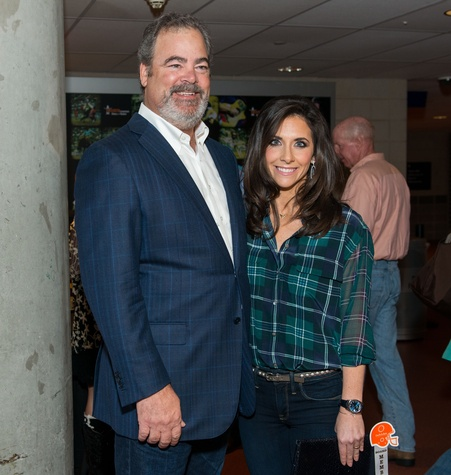 Cal and Hannah McNair at the Friday Night Lights Depelchin benefit November 2014