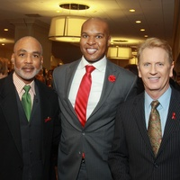 98 Phil Wilson, from left, Travis Torrence and Frank Billingsley at the World AIDS Day luncheon.