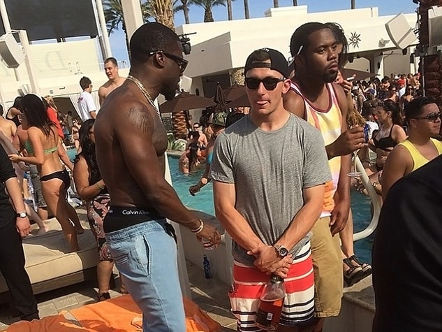Johnny Manziel partying in Las Vegas May 2014