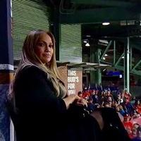 Jennifer Lopez at World Series FOX Sports booth