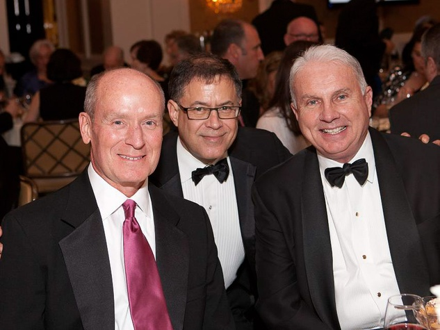 723 Dr. Mark Kline, from left, Dr. Gary Clark and Mark A. Wallace at the Blue Bird Circle Gala October 2013