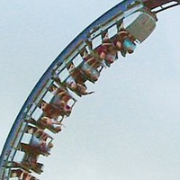 Greezed Lightnin Astroworld roller coaster