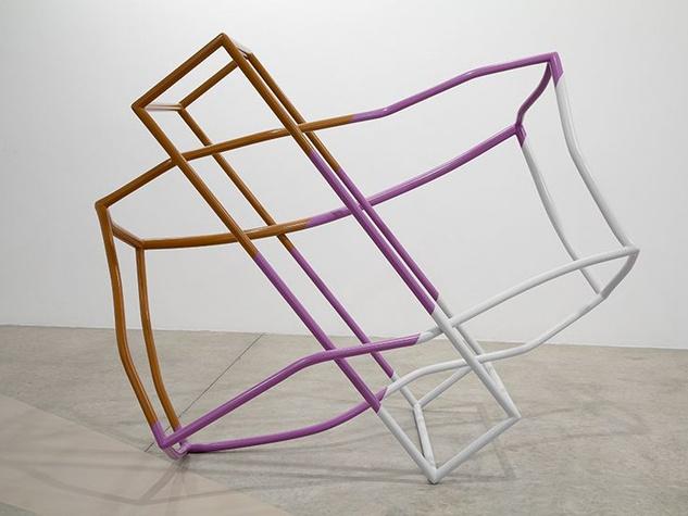 X sculpture by Liz Larner