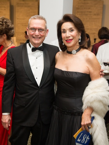 Richard Bone and Mary Cullen at the MFAH Latin American Experience November 2013