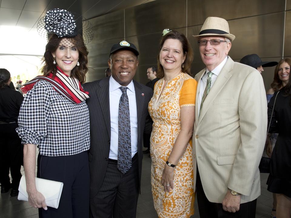 Houston, hats in the park, April 2017, Phoebe Tudor, Mayor Sylvester Turner, Doreen Stoller, Joe Turner.