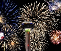 San Antonio fireworks Tower of the Americas fourth july independence day new years eve