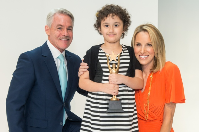 19 Tom Koch, from left, Alessandra 'Aly' DeFilippis and Ilona Carson at the M.D. Anderson Gold Star Luncheon September 2014