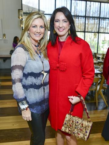 28 Anne Carl, left, and Alicia Smith at the Petra Nemcova luncheon December 2013