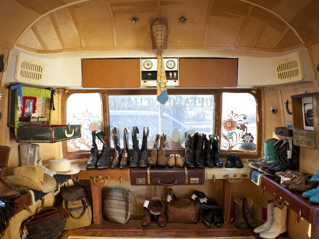 Buffalo Exchange Airstream inside