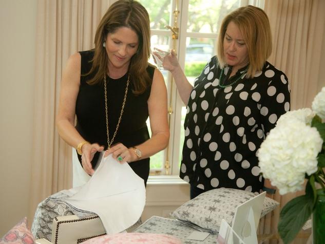 Tribute Goods party, April 2014, Karen Pulaski, Laura Merritt