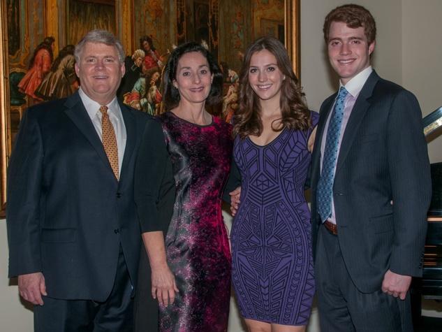 Pat, Maura, Megan and Patrick Neligan, january deb parties