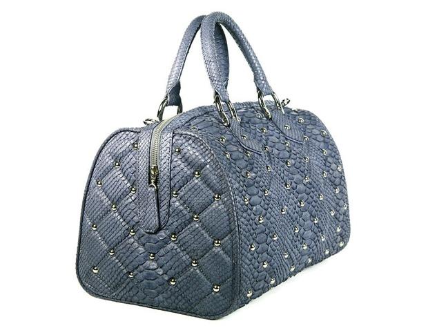 Bobby Schandra blue python bag