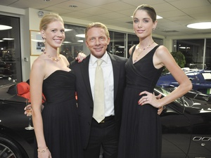 Bvlgari Maserati event, November 2012, Scott Brogan with models wearing Bulgari jewels