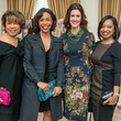 7 Merle Yarborough, from left, Gina Gaston, Phoebe Tudor and Shawntell McWilliams at the Passion for Fashion luncheon March 2015