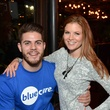Austin Torrance and Courtney Fielden at Blue Cure Young Professionals February 2014