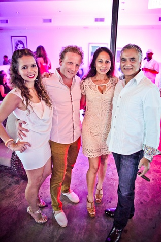 25 Kellyn and Alejandro Vila, from left, and Fatima and Wasim Khan at A Night in Havana July 2014