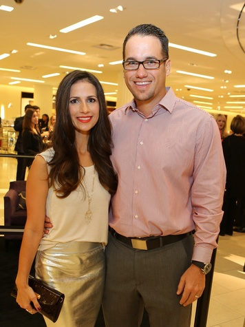 13 Nina and Michael Phillips at Saks' Key to the Cure October 2013