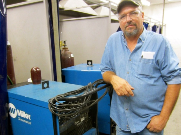 James Williams_welding machine_Houston Community College_HCC