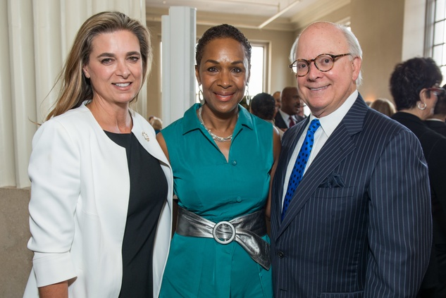 Mary Elizabeth Hahnfeld, from left, Suzette Caldwell and Glen Bauguss at the Legacy Luncheon September 2014