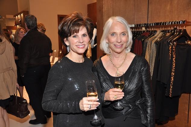 Linda Reid, left, and Jan McMillan at the Pamella Roland runway show at Elizabeth Anthony November 2014