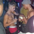 Justin Bieber at strip club in Houston October 2013