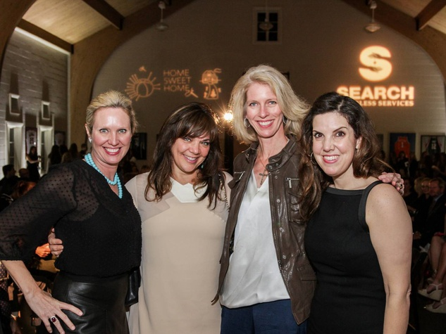 Pam Lewis, from left, Terri Havens, Kelly Labanowski and Alicia Kowalski at the SEARCH fashion event March 2014