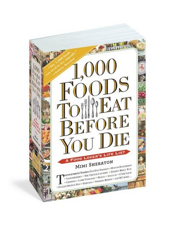 Marene Gustin 1,000 foods to eat before you die February 2015 book cover